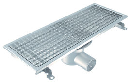 Channel 200x600, Tiles with Gluing Flange, L15 Grate, Central Outlet