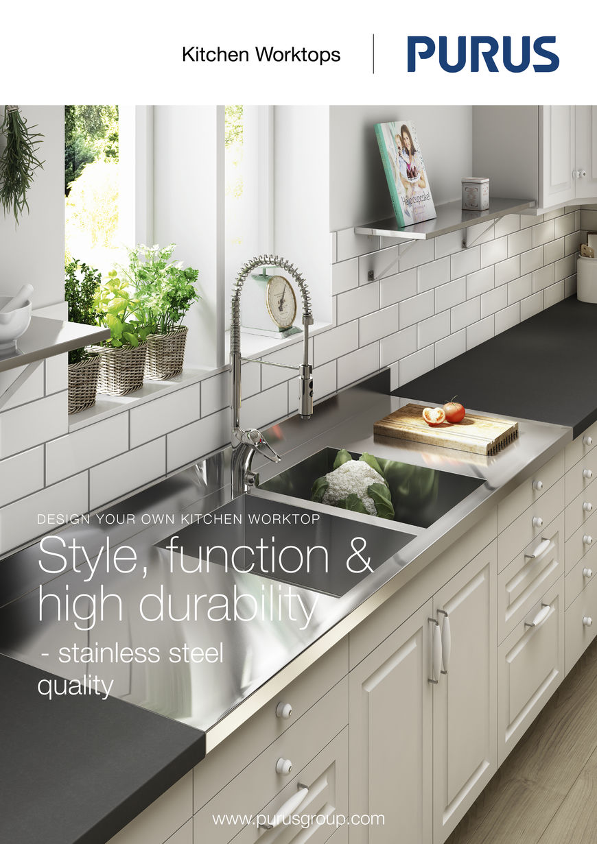 Stainless steel kitchen work surfaces - This Includes The Extensive Selection Of Fully Stainless Steel Kitchen Worktops Which Are Designed To Match