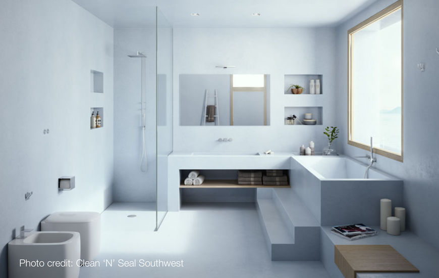 Micro Cement And Concrete Innovative New Floor Finish For Wetroom Bathroom Areas
