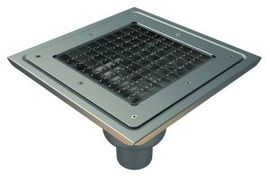 Bottom 110mm Outlet, 300x300mm Square Top Gully for Vinyl, L15 Grate