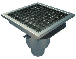 Bottom 75mm Outlet, 200x200mm Square Top Gully for Concrete, L15 Grate