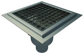Bottom 75mm Outlet, 200x200mm Square Top Gully for Resin, L15 Grate