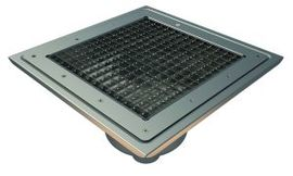 Bottom 75mm Outlet, 300x300mm Square Top Gully for Vinyl, L15 Grate