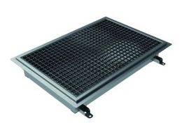 400x400, L15 Grate, Kitchen Channel for Resin Floors, Central Outlet