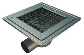 Side 110mm Outlet, 300x300mm Square Top Gully for Vinyl, L15 Grate
