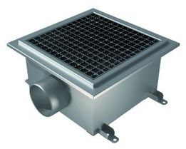300x300 Deep, Side 110mm Gully, L15 Grate, Industrial Channel for Tiles with Gluing Flange