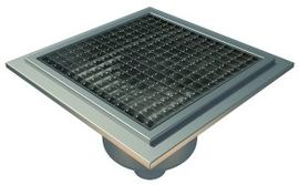 Bottom 75mm Outlet, 300x300mm Square Top Gully for Tiles with Gluing Flange, L15 Grate